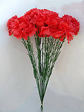 Искусственные цветы Гвоздики  20 шт