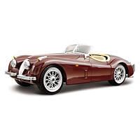 Автомодель BburagoBijoux JAGUAR XK 120 (1951) (ассорти вишневый,серебристый,1:24)