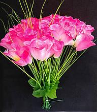 Искусственные цветы Розы 20 шт розовые