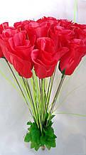 Искусственные цветы Розы 20 шт красные