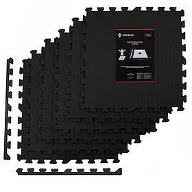 Мат-пазл (ласточкин хвост) Springos Mat Puzzle EVA 180 x 120 x 1.2 cм FM0003 Black
