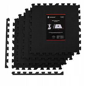 Мат-пазл (ласточкин хвост) Springos Mat Puzzle EVA 120 x 120 x 2 cм FM0001 Black