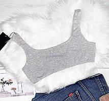 Топ серый хлопковый. Майки футболки женские ТМ Exclusive