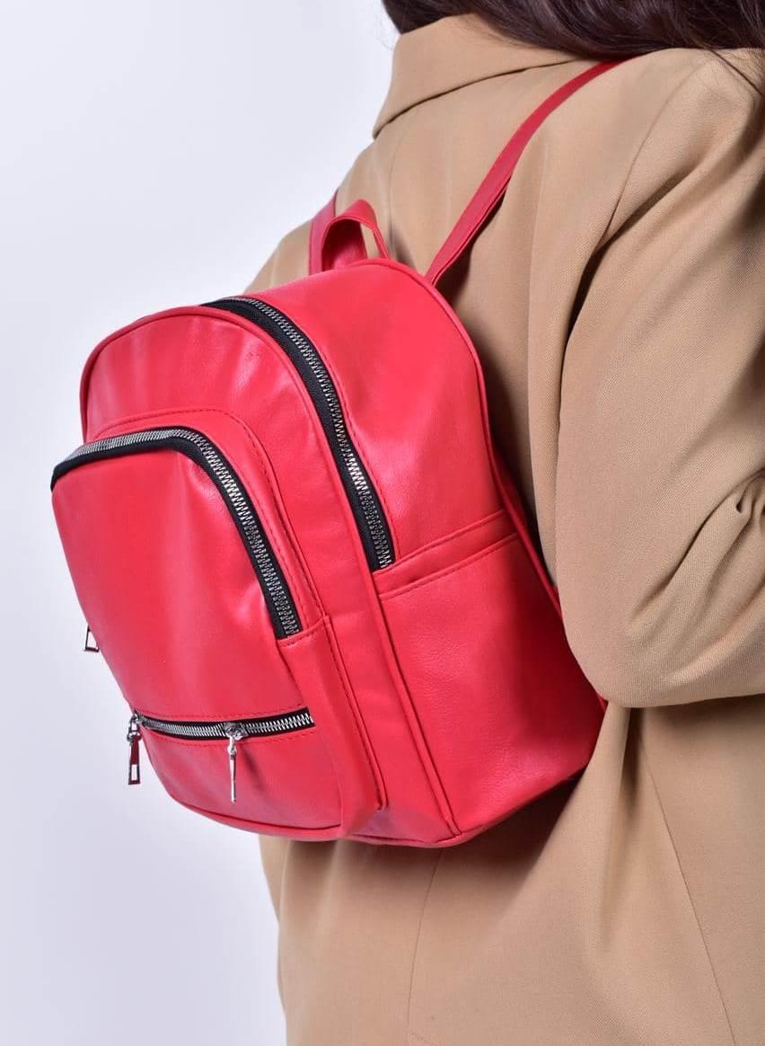 Рюкзак жіночий червоний код 7-501