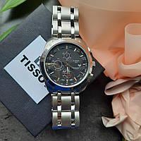Наручные механические мужские часы Tissot Couturier (реплика ААА) с металлическим браслетом