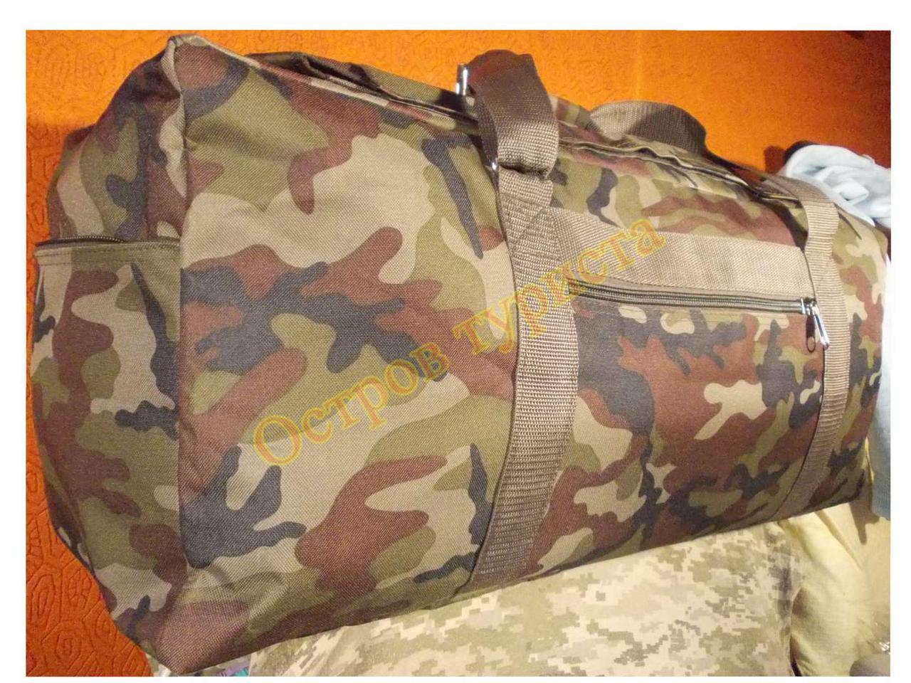 Сумка рюкзак 1224 камуфляжна зелена 70 літрів
