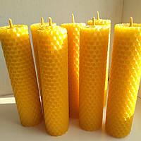 Свеча с вощины ( 13 х 3)1шт., фото 1