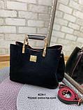 Стильная  женская сумка из натуральной замши и экокожи, фото 3