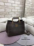 Стильная  женская сумка из натуральной замши и экокожи, фото 5