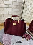 Стильная  женская сумка из натуральной замши и экокожи, фото 2