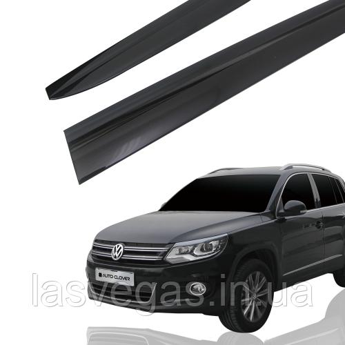 Дефлекторы окон (ветровики) Volkswagen Tiguan 2007-2016 (Autoclover A188)