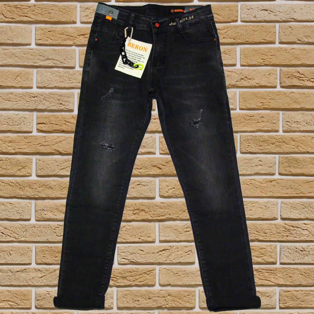 Стильные джинсы Мом для мальчика 134-152 рост черные