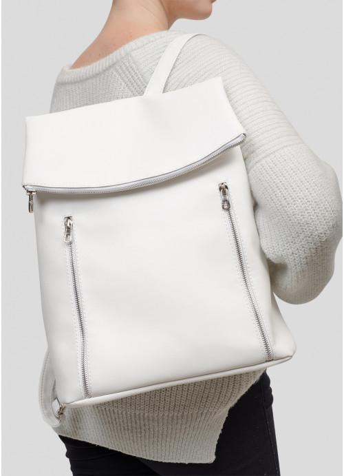 Рюкзак женский белый Женский рюкзак Стильный женский рюкзак Рюкзак для девушки Модный женский рюкзак