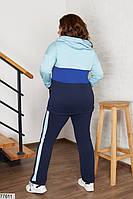 Спортивний костюм з кофтою на блискавці з капюшоном і кишенями з 48 по 66 розмір, фото 4