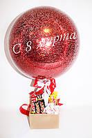 Коробочка со сладостями и шар с надписью