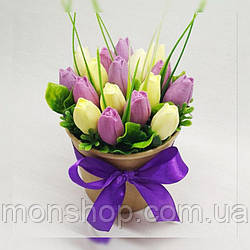 Букет из мыла тюльпаны (17шт.)