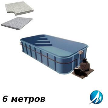 Комплект для отделки борта полипропиленового бассейна 6 м копинговым камнем