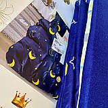 Двоспальний комплект постільної білизни з простирадлм на гумці 160*200+20см Постільна білизна з фланелі розмір двоспальний, фото 2
