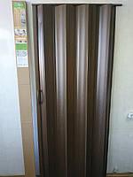 Дверь-гармошка ширма Каштан 820х2030х0,6 мм №14 раздвижная межкомнатная пластиковая глухая, фото 1