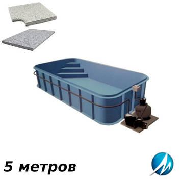 Комплект для отделки борта полипропиленового бассейна 5 м копинговым камнем