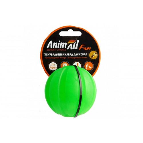 Іграшка AnimAll Fun тренувальний м'яч, зелений, 5 см