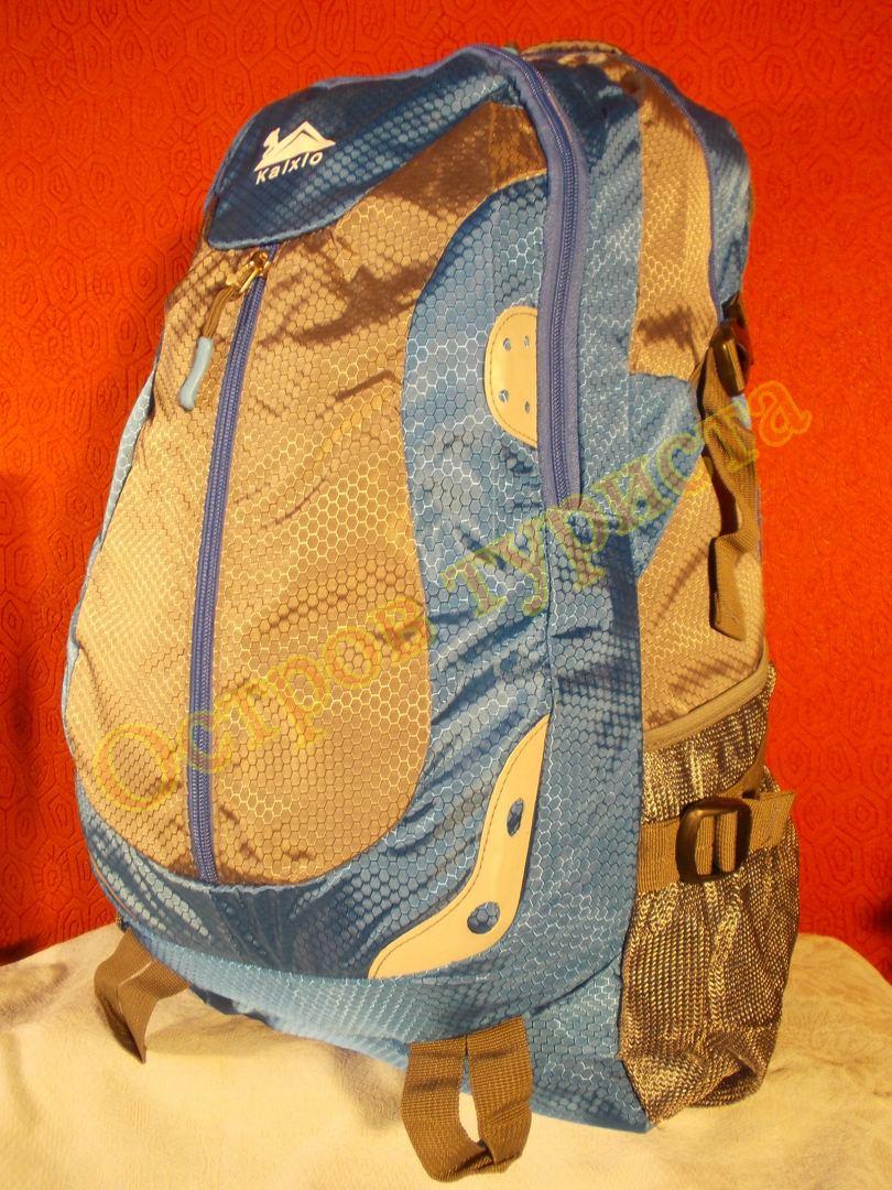 Рюкзак туристический городской спортивный Kaixio 22007 40 литров серо-голубой