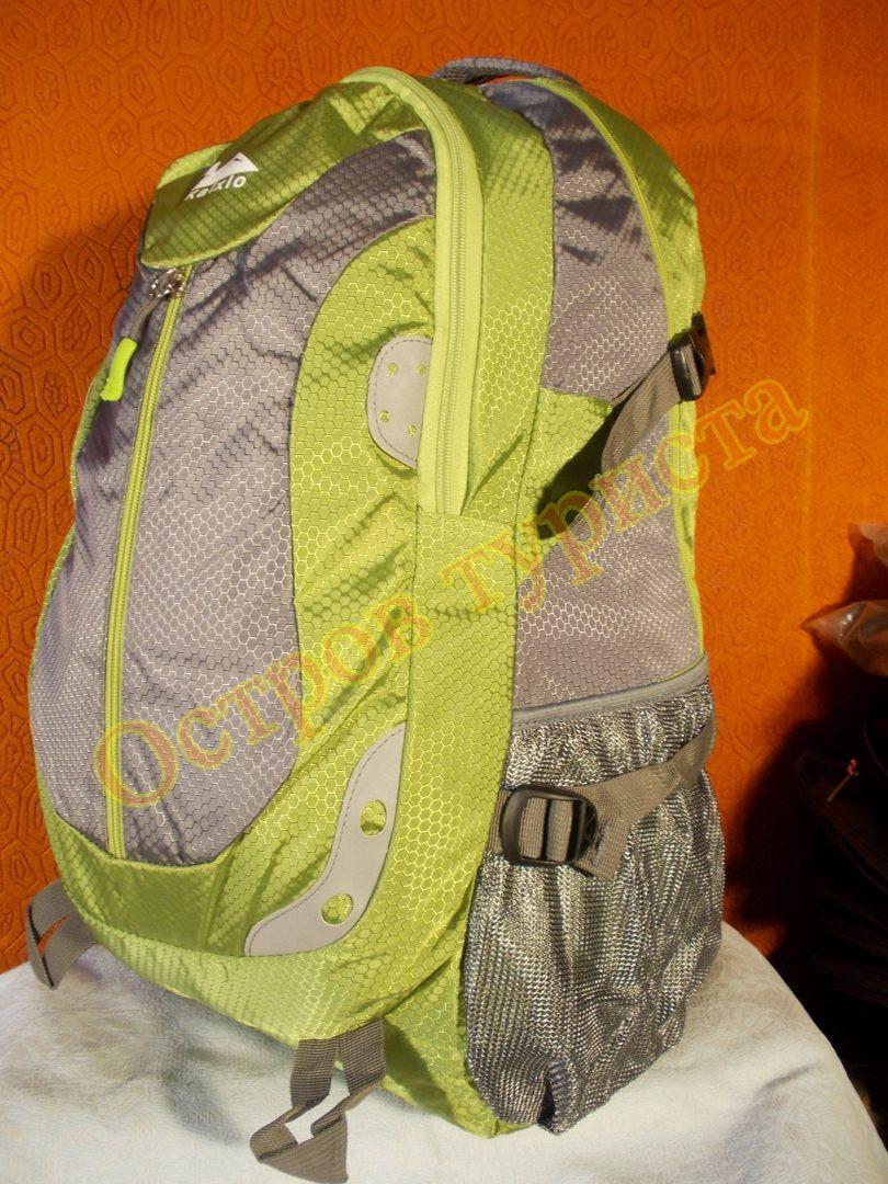 Рюкзак туристичний міський спортивний Kaixio 22007 40 літрів сіро-салатовий