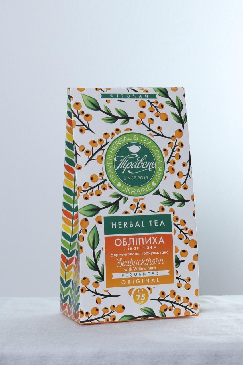 Чай Иван чай з облепихою 75г ТМ Травень