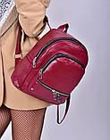Рюкзак жіночий бордовий код 7-501, фото 2