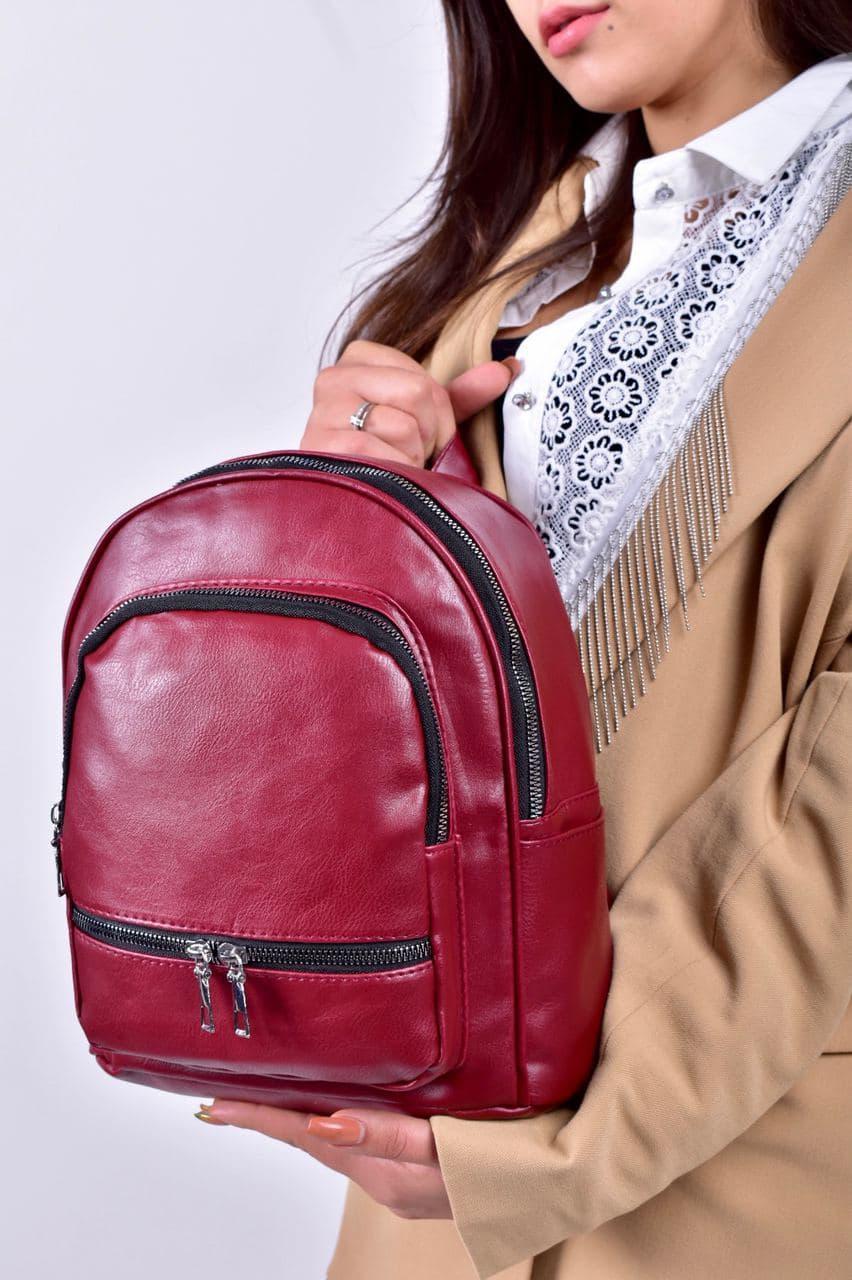 Рюкзак жіночий бордовий код 7-501