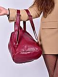 Рюкзак жіночий бордовий код 7-501, фото 4