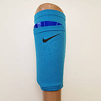 Держателидля щитков футбольные сеточки NIKE Найк (синие) реплика