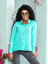 """Асимметричная женская рубашка """"Willow"""" с длинным рукавом (10 цветов), фото 2"""