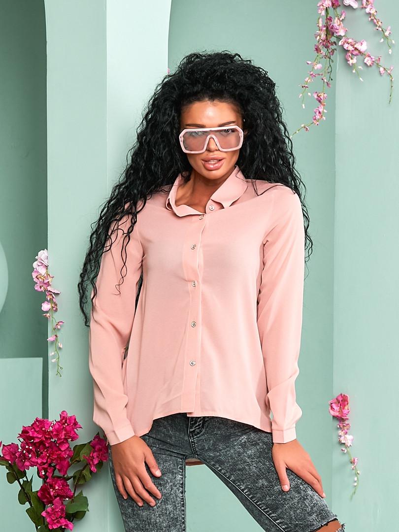 """Асимметричная женская рубашка """"Willow"""" с длинным рукавом (10 цветов)"""