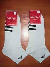 """Подростковые носки """"в стиле"""" """"Adidas"""". р. 23-25 (36-39). Серые."""