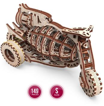 "Іграшка механічна дерев'яна 3D-модель ""Механічна машина. Старбайк"" №10104/ПлейВуд/"