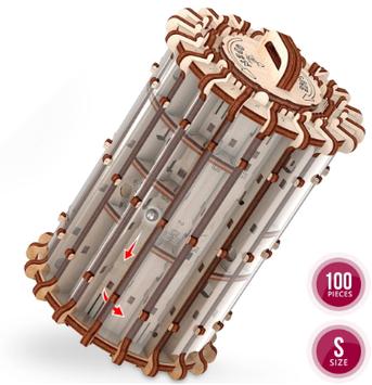 """Іграшка механічна дерев'яна 3D-модель """"Лабіринт. Scroll&hole"""" №10701/ПлейВуд/"""