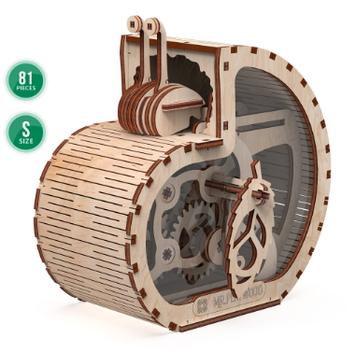"""Іграшка механічна дерев'яна 3D-модель """"Равлик-скарбничка""""S"""" №10602/ПлейВуд/"""