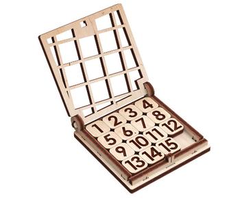 """Іграшка дерев'яна 3D-модель """"Гра. П'ятнашки"""" №10303/ПлейВуд/"""