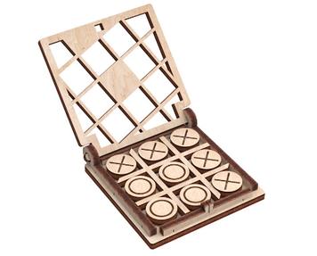 """Іграшка дерев'яна 3D-модель """"Гра. Хрестики нолики"""" №1 №10304/ПлейВуд/"""