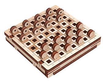 """Іграшка дерев'яна 3D-модель """"Гра. Шашки"""" №10307/ПлейВуд/"""