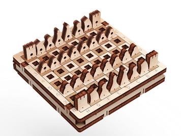 """Іграшка дерев'яна 3D-модель """"Гра. Шахи"""" №10306/ПлейВуд/"""