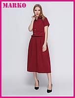 Красивое женское бордовое платье с удобным поясом на резинке! (черный. бордовый)