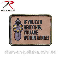 Патч велкро - ти в зоні ураження If You Can Read This Morale Patch Rothco США