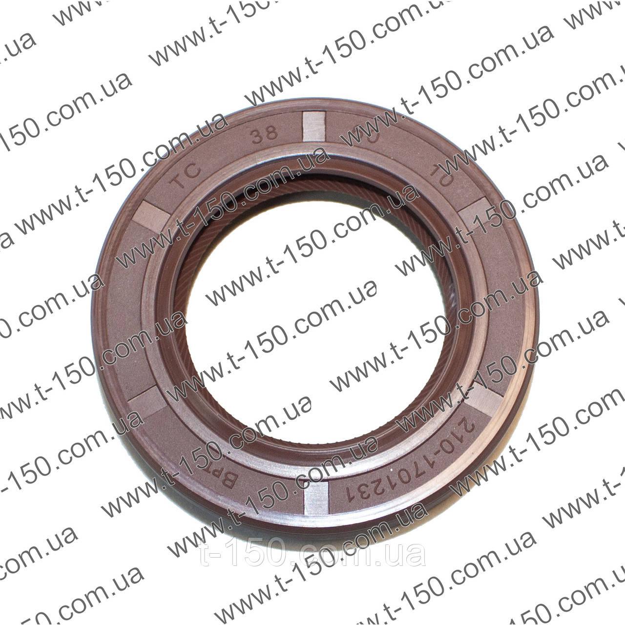 Манжета армована (сальник) привода вентилятора Т-150, МАЗ ЯМЗ 236/238 2.2-38х60-10, 210-1701230, силікон