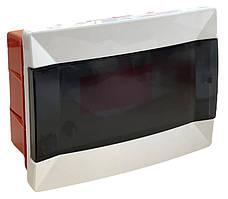 Распределительный  щиток  пластиковый для монтажа в стену 12 модулей