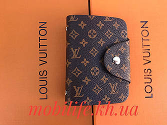 Візитниця Louis Vuitton/на 26 візиток/висота 10см/ширина 7см/