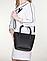 Женская итальянская натуральная кожаная сумка черная 25х22х12, фото 3
