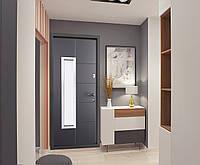Двері вхідні SARMAK Супрім Комфорт 960 R,L Plastid металізований/ВІН Антрацит
