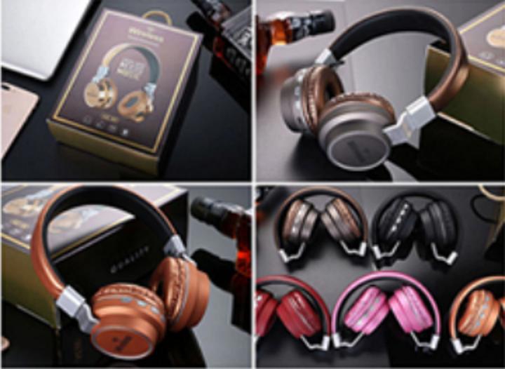 Накладні навушники BT FM SD дужка метал AZ-05-BT